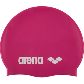 arena Classic Silicone Badehætte, fuchsia-white
